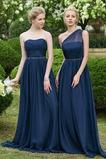 Vestido de dama de honor Sin mangas Natural Elegante Abalorio primavera largo