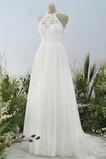 Vestido de novia Sencillo Fuera de casa Hasta el suelo Natural Corte-A