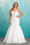 Vestido de novia Corte Sirena Sala primavera Sin mangas Cola Capilla