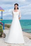 Vestido de novia Clasicos Cola Capilla Con Chaqueta Satén Escote Corazón