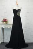 Vestido de fiesta Corte-A Drapeado Sin mangas Escote Corazón Elegante