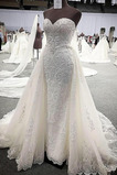 Vestido de novia Apliques Espalda Descubierta Encaje Capa de encaje