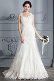 Vestido de novia Elegante largo Natural Bordado Sin mangas Corte Sirena