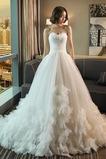 Vestido de novia Elegante Escote Corazón Corte-A Fuera de casa Flores