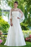 Vestido de novia Elegante Corte-A Encaje Con Chaqueta primavera Natural