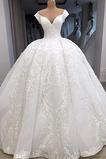 Vestido de novia Bordado Capa de encaje Escote en V Clasicos Invierno