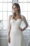 Vestido de novia Otoño Espalda Descubierta Sin mangas Elegante Corte-A