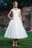 Vestido de novia Corte princesa Organza primavera Glamouroso Hasta la Tibia