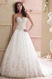 Vestido de novia Encaje Sin mangas Cremallera largo Cintura Baja Escote Corazón