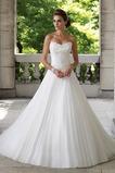 Vestido de novia largo Corte-A Iglesia Formal Sin mangas Organza