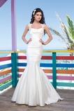 Vestido de novia Corte Sirena Sala Queen Anne Clasicos Cola Capilla