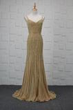 Vestido de noche Colores Escote de Tirantes Espaguetis Espalda medio descubierto