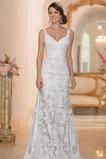 Vestido de novia Encaje Natural Escote de Tirantes Espaguetis Fuera de casa
