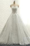 Vestido de novia Sin tirantes Formal Playa Apliques Sin mangas Natural