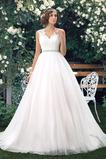 Vestido de novia Elegante Cola Capilla Pura espalda Natural Sin mangas