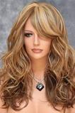 Largo rizado conveniente para las mujeres tiempo de peluca rizada