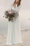 Vestido de novia Pera Playa Hasta el suelo Natural Espalda Descubierta