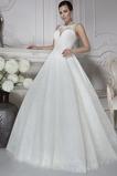 Vestido de novia Corte-A Clasicos Natural Apliques Encaje Otoño