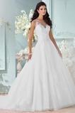 Vestido de novia Sin mangas Cola Capilla Formal Cremallera Natural Corte-A