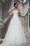 Vestido de novia Fuera de casa Cordón Otoño Corte-A Formal Apliques
