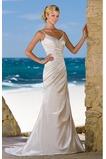 Vestido de novia Plisado Fuera de casa Escote de Tirantes Espaguetis