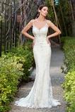 Vestido de novia Apliques Moderno Playa Cola Capilla Espalda Descubierta