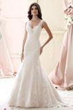 Vestido de novia Corte Sirena Cristal Encaje Moderno Sala Escote en V