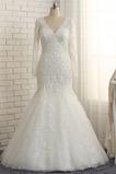 Vestido de novia Corpiño Acentuado con Perla Encaje Hasta el suelo Natural