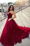 Vestido de fiesta vendimia Natural Escote Corazón Drapeado tul largo