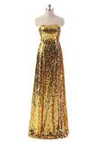 Vestido de fiesta Con lentejuelas Corte-A Natural Hasta el suelo Sin mangas