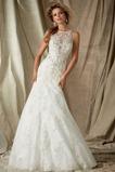 Vestido de novia Corte Sirena Apliques primavera Cremallera Moderno