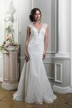 Vestido de novia Encaje Natural Cremallera largo Otoño Fuera de casa