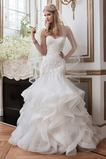 Vestido de novia Espectaculares largo Natural Fuera de casa Apliques
