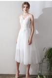 Vestido de novia Corte-A Verano Pera tul Playa Espalda Descubierta