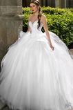 Vestido de novia Sin mangas Vasco Corte-A Escote Corazón Encaje Iglesia