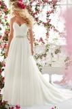 Vestido de novia Corte-A Escote de Tirantes Espaguetis primavera largo