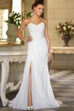 Vestido de novia Sencillo Gasa Natural Escote Corazón Espalda Descubierta
