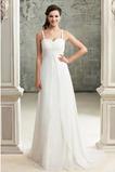 Vestido de novia Sencillo Imperio Encaje Espalda Descubierta Abalorio