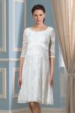 Vestido de novia Tallas grandes Imperio La mitad de manga Arco Acentuado