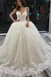 Vestido de novia Baja escote en V Triángulo Invertido Capa de encaje