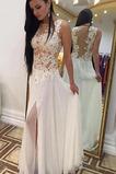 Vestido de novia Hasta el suelo Pura espalda Sin mangas Falta Gasa Transparente