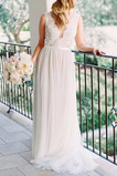 Vestido de novia Playa Encaje Verano Natural Falta Pura espalda