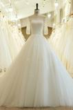 Vestido de novia Sala Natural Manga de longitud 3/4 Capa de encaje Escote con Hombros caídos