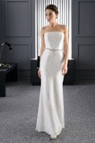 Vestido de novia Sin tirantes Cola Barriba Cinturón de cuentas Cristal