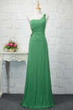 Vestido de noche Elegante Gasa Corpiño Acentuado con Perla Falta Corte-A