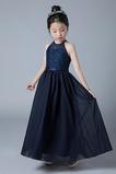 Vestido niña ceremonia primavera Corte-A Hasta el Tobillo Espalda con ojo de cerradura