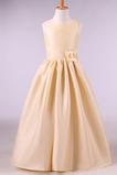 Vestido niña ceremonia Corte-A Joya primavera Flores Cremallera Formal