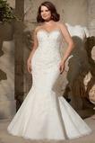 Vestido de novia Abalorio Sala Natural Encaje Otoño Cordón