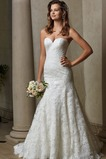 Vestido de novia Corte Sirena Escote Corazón Encaje primavera Sin mangas