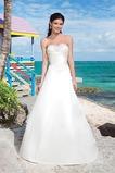 Vestido de novia Colores largo primavera Abalorio Iglesia Corte-A